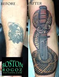 rattlesnake and kabar color usmc cover up by boston rogoz