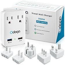 travel adapters images Odoga world travel adapter kit 2 powerful 2000w ac jpg