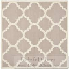 Square Wool Rug Safavieh Handmade Moroccan Cambridge Beige Ivory Geometric Wool