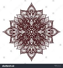 decoration henna drawing flower mandala style stock vector