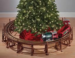 manhattan railway christmas tree train trestle set the green head