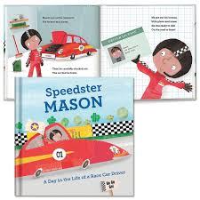 a day in the of a race car driver personalized storybook