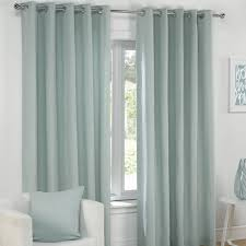 plain eyelet grommet fully lined pair window curtains cream gray