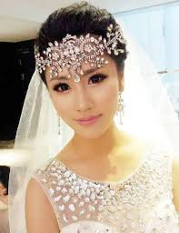 white frontlet hair accessories wedding