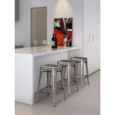 zuo marius 25 7 in gunmetal bar stool set of 2 106114 the