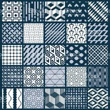 vector ornamental black and white seamless backdrops set geometric
