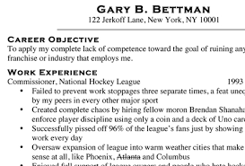 exclusive copy of gary bettman u0027s resume obtained by theheckler com