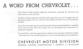 1964 corvette owners manual