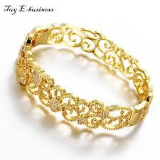 rose gold plated bracelet images Bracelet femme 24k rose gold plated bangles for women filled clear jpg