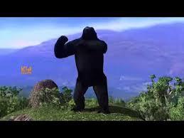 dinosaurs king kong 3d short movie big fight dinosaur