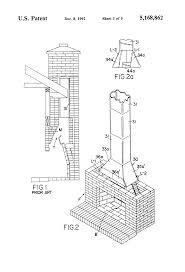 patent us5168862 fireplace throat and process google patents