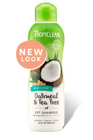 tropiclean oatmeal u0026 tea tree pet shampoo 355ml kissypet 天然糧