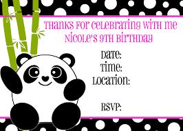 panda bear birthday invitations alanarasbach com