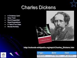charles dickens biography bullet points author matrix science fiction action adventure fantasy historical