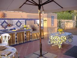 Outdoor Kitchen Backsplash Ideas Interesting Outdoor Kitchen Ideas With Blue White Tile
