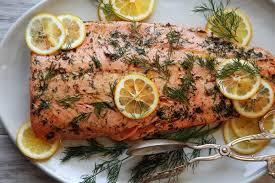 cuisiner du saumon au four saumon au four recette aneth et citron