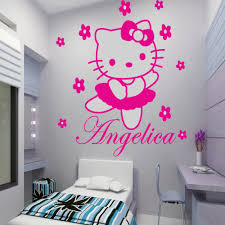 aliexpress com buy english famous quote enjoy the little things customer made personalized wall sticker cartoon cute kitty with flowers decals for kids room decor you choose name and color