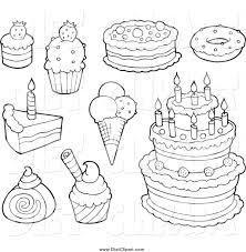 dessert coloring pages paginone biz
