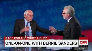 all the times sanders called wolf blitzer jake tapper cnn video