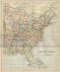 East United States Map by Places And Spaces Old Maps
