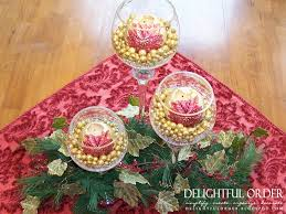 decor cheap christmas centerpieces on glass vase and pine for