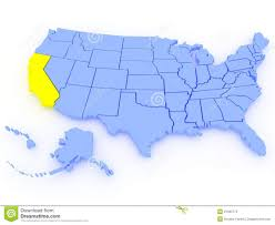 california map in usa us map with california 3d map united states state california