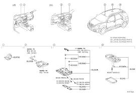 lexus interior parts catalog toyota fortunerkun60l ekpshm electrical interior lamp japan