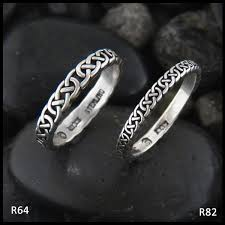 celtic rings narrow josephine s knot stacking ring in silver walker