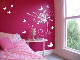 Beautiful Wall Stickers For Room Interior Design by Beautiful Wall Sticker Of Butterfly Painting Bedroom Rukle Red