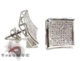 most beautiful earrings square diamond earrings mens diamond earring white gold k