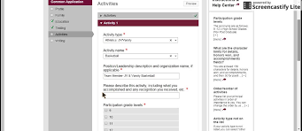 Examples Of College Essays For Common App Common App 4 Activities Section Youtube