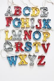 sale marquee letter ornament pendant charm mini metal monogram