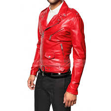motorcycle biker jacket mens red leather biker jacket red leather motorcycle jacket