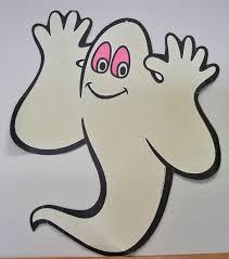 vintage beistle die cut glow in the dark halloween ghost from