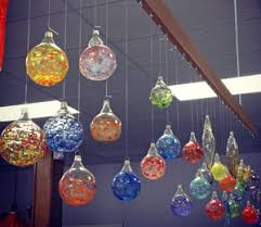 flameworking class creating blown glass ornaments