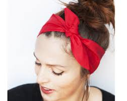 retro headbands view tie up headbands by minitastudio on etsy