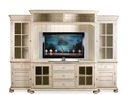 Entertainment Center Cabinet Doors Riverside Furniture Placid Cove Entertainment Wall Unit With Panel