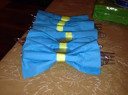bow tie napkins for my