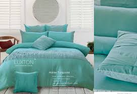 hyderabad kingfisher turquoise duvet cover natural bed company