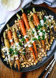 roasted carrots with farro chickpeas cookie and kate