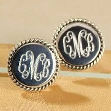 monogram earrings pin by schumar on wear pearls