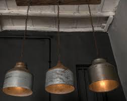 Galvanized Pendant Light Galvanized L Etsy