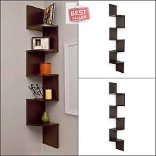 Corner Wall Bookcase Wall Shelves Large Corner Wall Mount Shelf Home Mdf Laminate Decor
