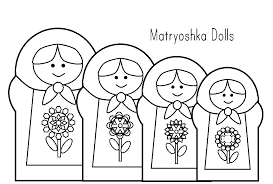matryoshka laura matryoshka doll coloring 2