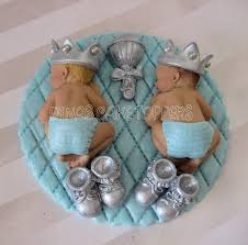 twin baby shower cakes glitter twins boy prince baby shower