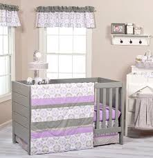 Lavender And Grey Crib Bedding Trend Lab Florence 7 Pc Nursery Crib Bedding Set Baby