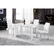 Gloss White Dining Table And Chairs Dining Table White Kitchen Table And Chairs White Dining Table
