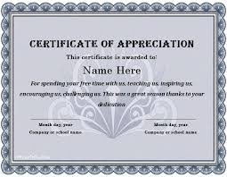 employee appreciation certificate templates recognition award