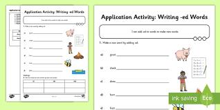 past simple regular verbs application worksheet esl regular