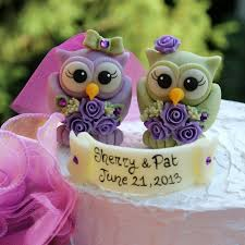 owl cake toppers custom same owl bird wedding cake toppers